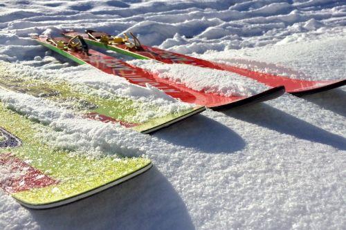 skis ski jumping winter