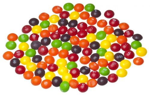 skittles candy colorful