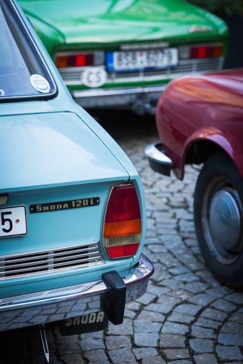 skoda prague old cars