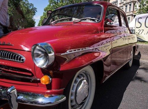 skoda  automotive  oldtimer