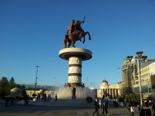 skopje square macedonia
