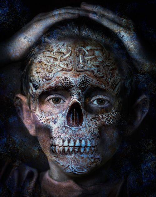 skull photo manipulation bone