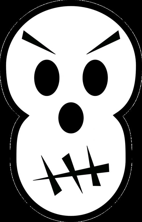 skull angry halloween