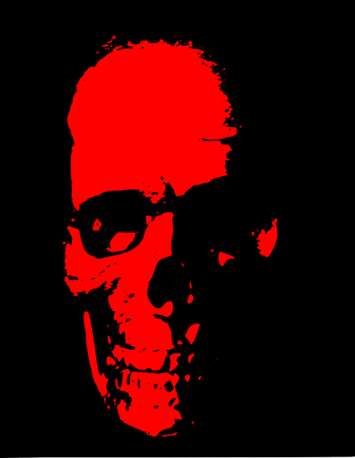 skull death red