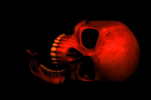 skull red death