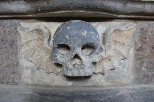 skull wings winged