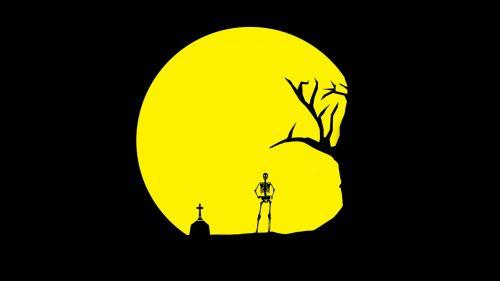 skull tree grave