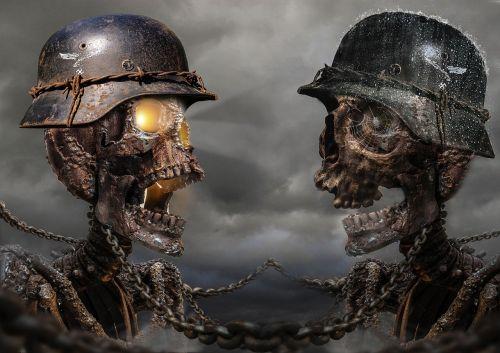 skull helmet wartime