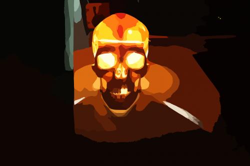 skull illuminated pirate