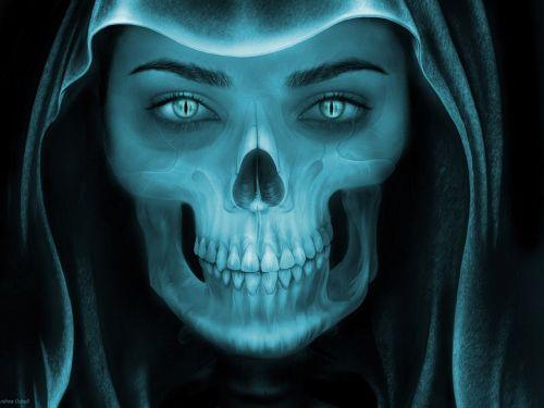 skull art demon