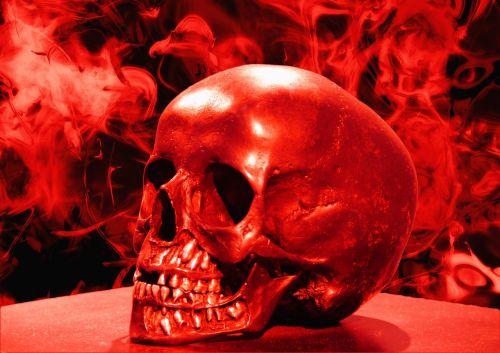 skull skull and crossbones smoke