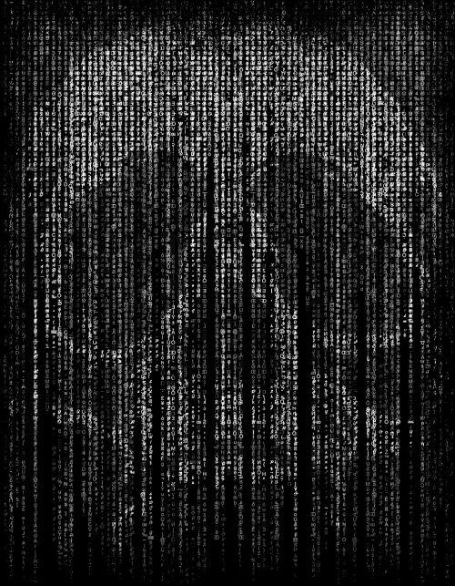 skull and crossbones matrix code