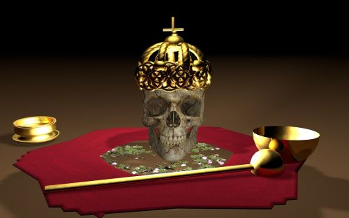 skull and crossbones crown gold