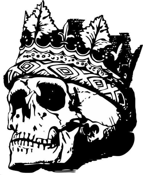 skull with crown skull crown