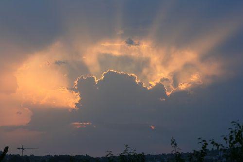 esslingen sunset clouds
