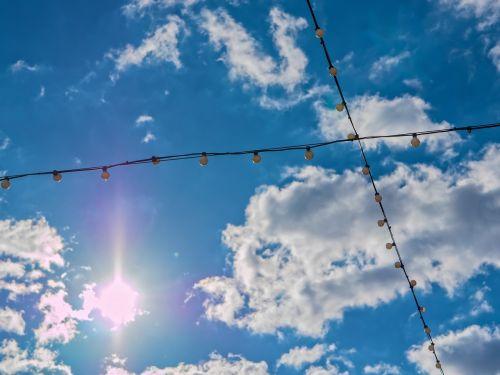 sky sun hanging