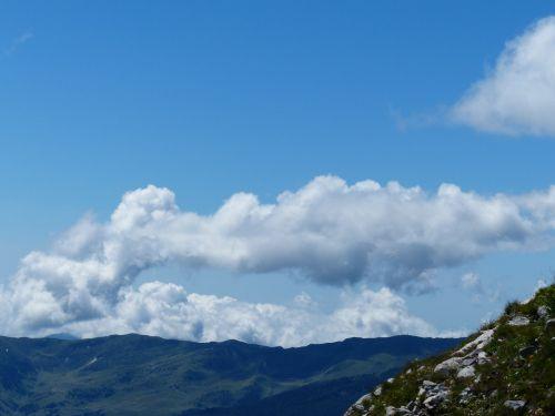 sky clouds fleecy