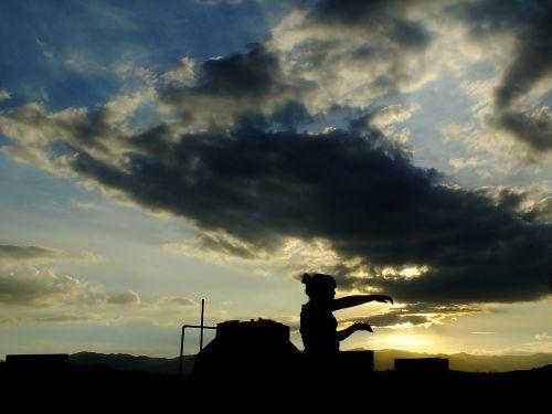 sky sunset heaven