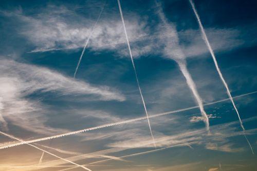 sky evening contrail