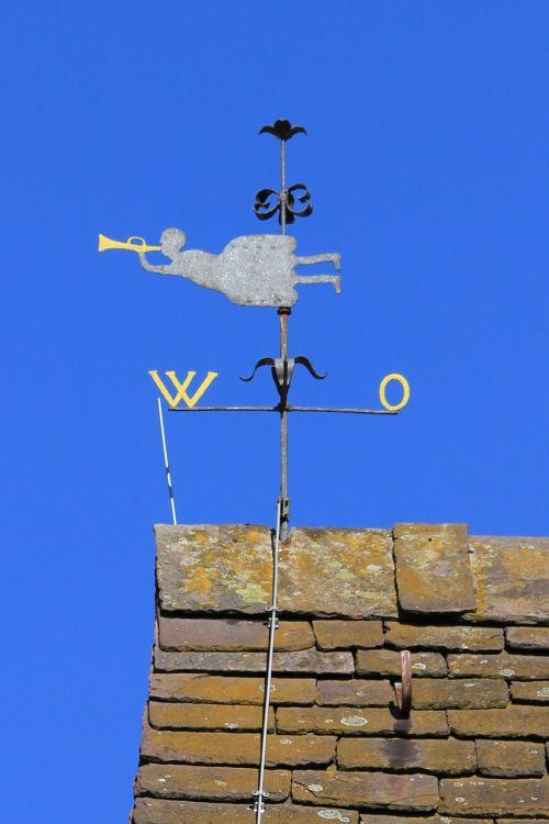 sky blue weathervane