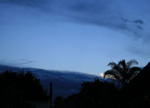 sky blue clouds