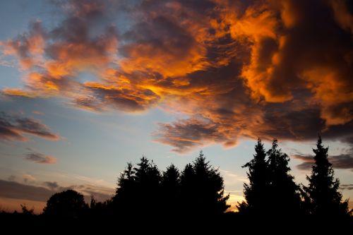sky orange orange sky