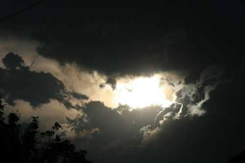 sky clouds dark