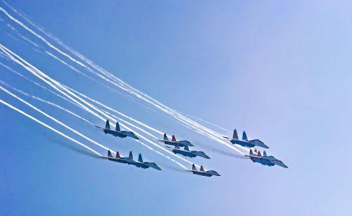 sky airshow aircraft