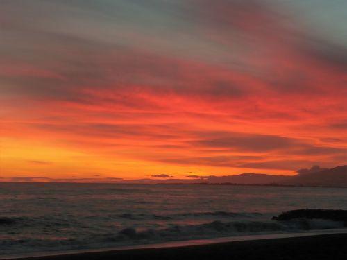 sky red sunset