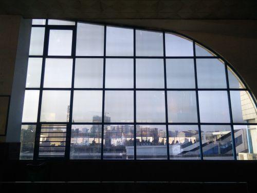 dangus,窗,gaisrinė automobilio stotis