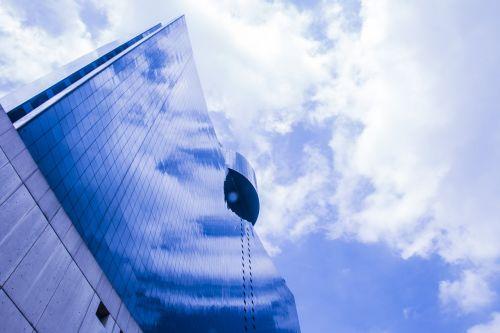 sky reflection building