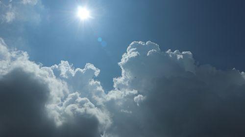 sky blue sun