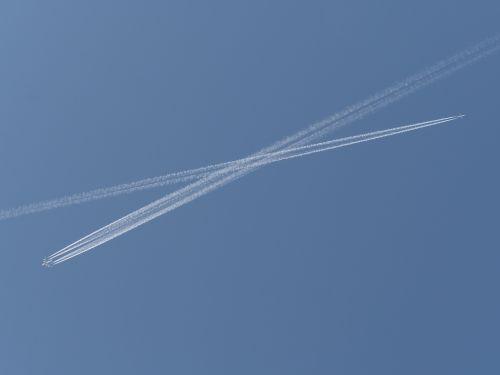 sky aircraft cross