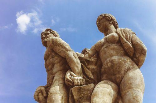 sky statue rock statue