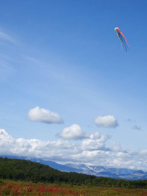 sky clouds kite