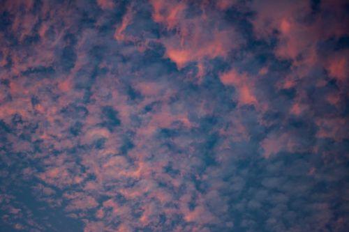 sky clouds pink