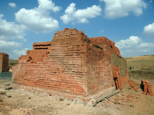 sky brick-laying brick-making
