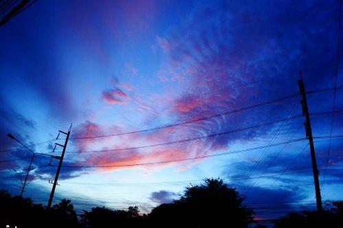 dangus,gamta,debesis,įspūdingi vaizdai,lauke,mėlynas dangus,oranžinis dangus