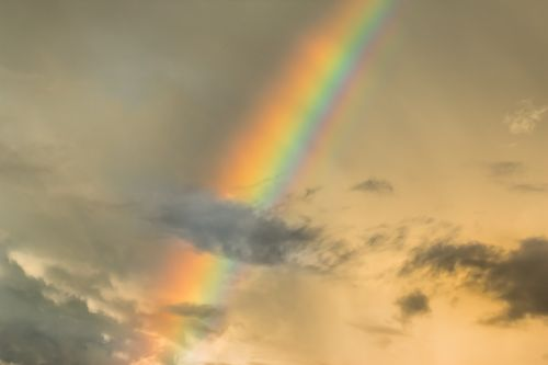 sky rainbow clouds