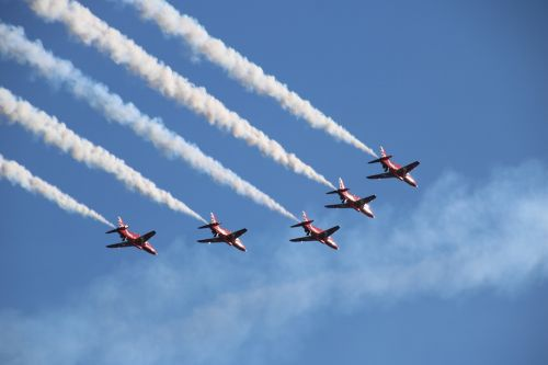 sky airplane airshow