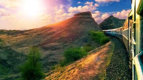 sky landscape railway