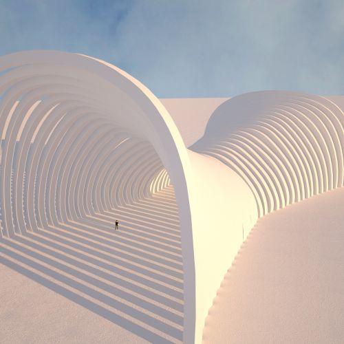 sky futuristic architecture