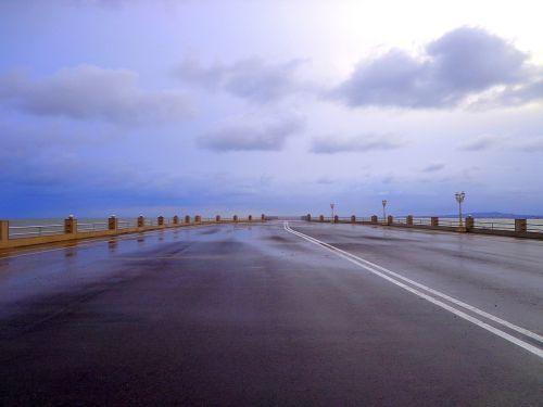 sky nature road
