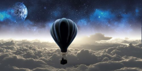 sky travel outer space