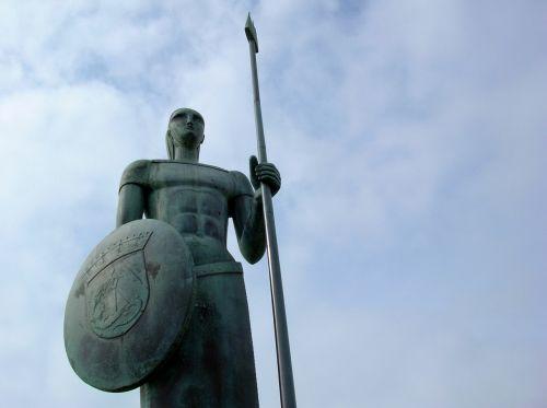 sky sculpture warrior