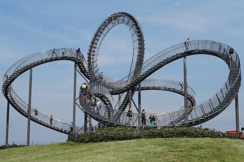 sky  ruhr area  roller coaster