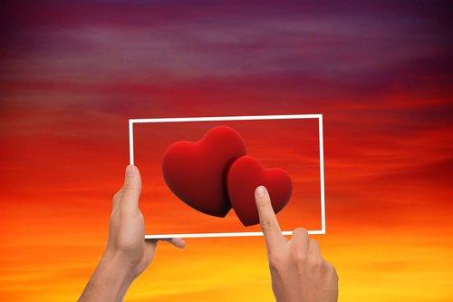sky  heart  love