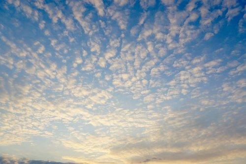 sky  blue sky  fleecy
