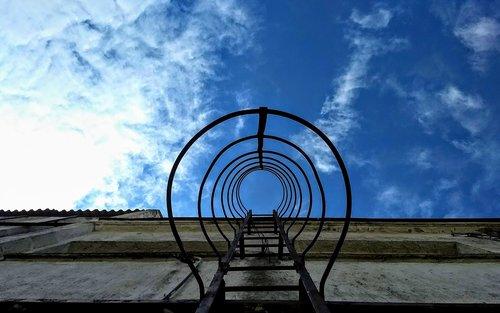 sky  ladder  warehouse