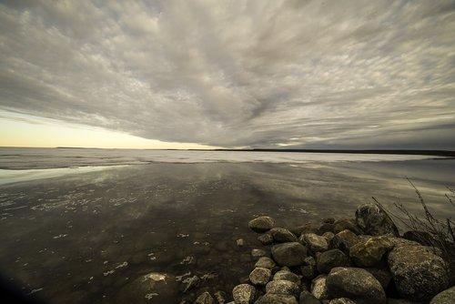 sky  clouds  lake